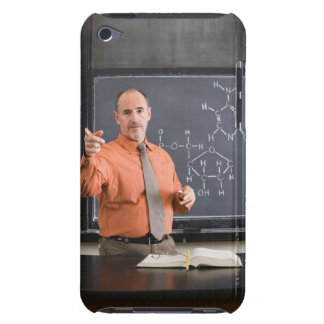 Teacher by chalkboard with structure of chemical Case-Mate iPod touch case