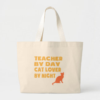 Teacher By Day (Yellow) Large Tote Bag