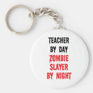 Teacher By Day Zombie Slayer By Night Keychain