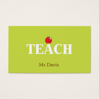 Teacher Calling Card