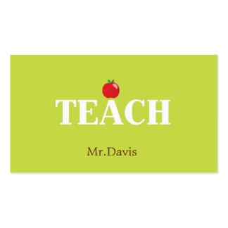 Teacher Calling Card Business Card Templates