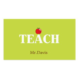 Teacher Calling Card Business Card Templates