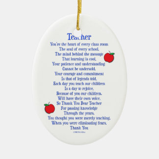 Teacher Ceramic Ornament
