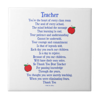 Teacher Ceramic Tile