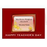 Teacher Certificate(Personalize) Greeting Cards