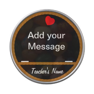 Teacher Chalk Board | DIY Name Jelly Belly Candy Tins