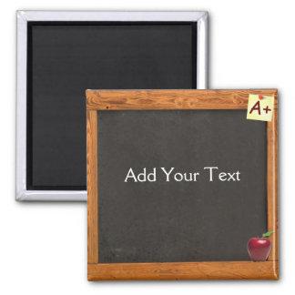 Teacher Chalkboard 2 Inch Square Magnet