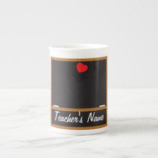 Teacher Chalkboard Mug - You Customize Bone China Mugs