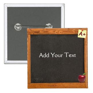 Teacher Chalkboard Pinback Button