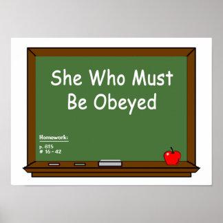 Teacher Chalkboard  Poster