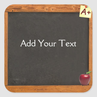 Teacher Chalkboard Square Sticker