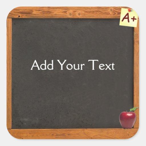 Teacher Chalkboard Square Stickers