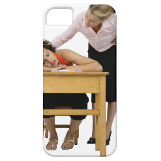 Teacher Checking on Student Asleep at Desk iPhone SE/5/5s Case