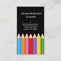 Teacher * choose background color business card