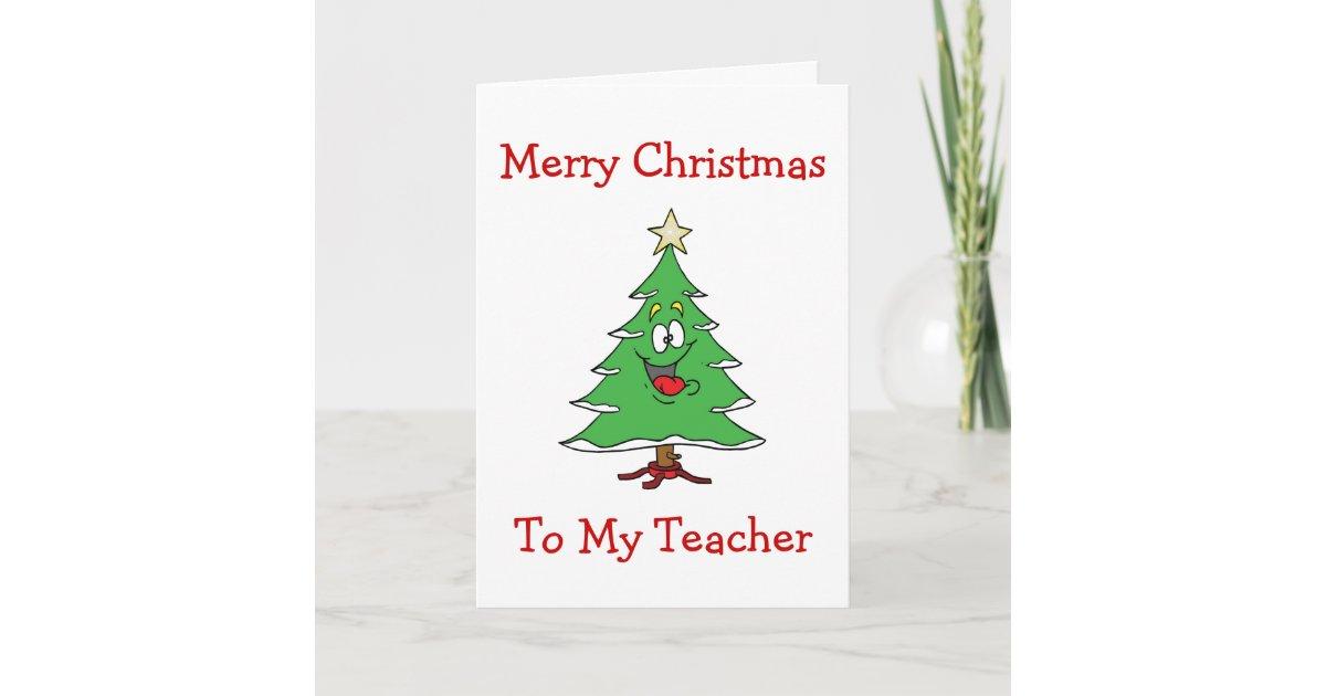 TEACHER/CHRISTMAS-CHRISTMAS CUTE TREE FOR TEACHER HOLIDAY CARD ...