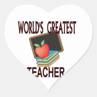 Teacher Christmas Gifts Heart Sticker