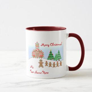 Teacher Christmas Mug - Gingerbread Scene
