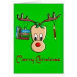 Teacher Christmas Reindeer--Adorable Gifts Greeting Card