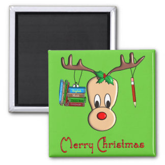 Teacher Christmas Reindeer--Adorable Gifts Magnet