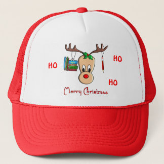 Teacher Christmas Reindeer--Adorable Gifts Trucker Hat