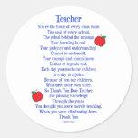 Teacher Classic Round Sticker