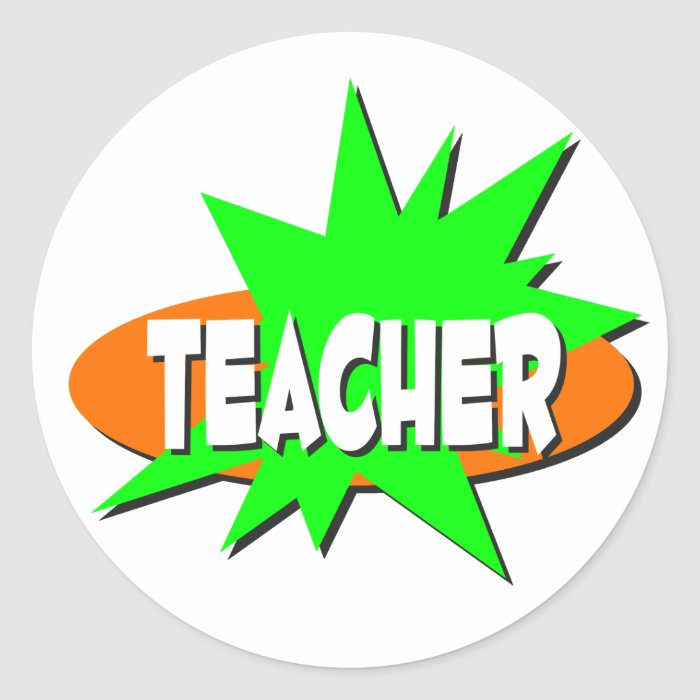 Teacher Classic Round Sticker