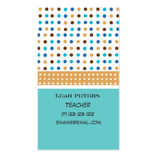 Teacher Counselor Cute and Friendly Business Card Templates