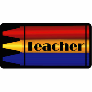 Teacher Crayon Design Pin Statuette