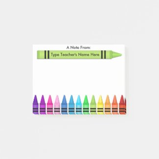 Teacher Crayon Personalized Note