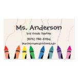 Teacher Crayons Business Card