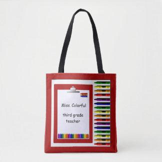 Teacher Crayons CustomTote Bag