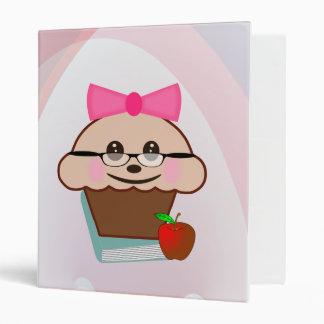Teacher Cupcake 3 Ring Binder
