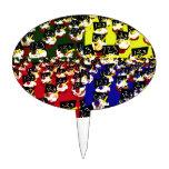 Teacher cupcake repeat pop art colours cake topper