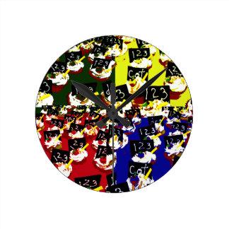 Teacher cupcake repeat pop art colours clock