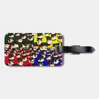 Teacher cupcake repeat pop art colours luggage tag