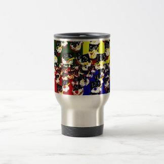 Teacher cupcake repeat pop art colours mug