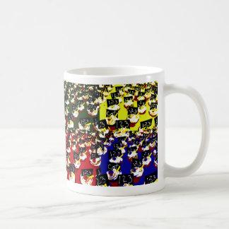 Teacher cupcake repeat pop art colours mugs