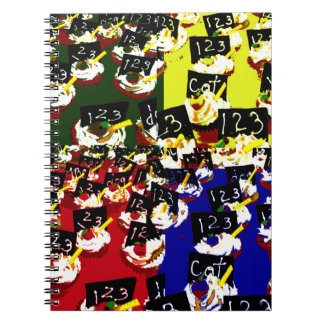 Teacher cupcake repeat pop art colours note books