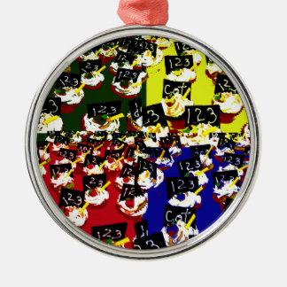 Teacher cupcake repeat pop art colours christmas ornaments
