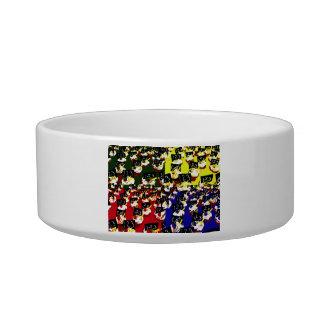 Teacher cupcake repeat pop art colours cat water bowls