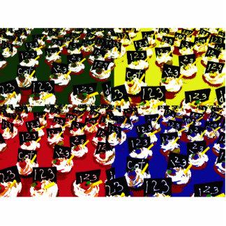 Teacher cupcake repeat pop art colours acrylic cut out