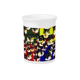Teacher cupcake repeat pop art colours beverage pitcher