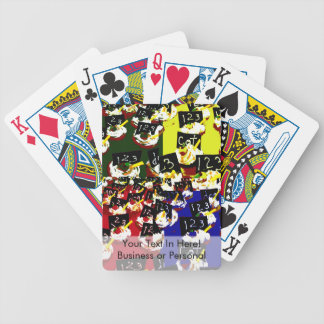 Teacher cupcake repeat pop art colours bicycle playing cards