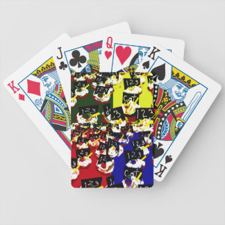 Teacher cupcake repeat pop art colours playing cards