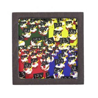 Teacher cupcake repeat pop art colours premium jewelry box