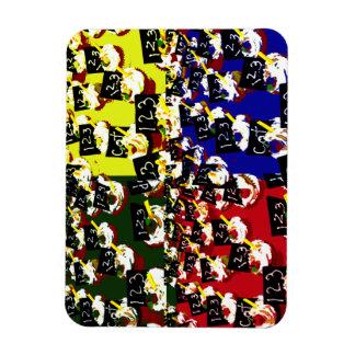 Teacher cupcake repeat pop art colours vinyl magnets