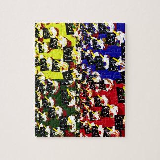 Teacher cupcake repeat pop art colours jigsaw puzzle