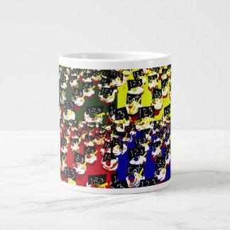 Teacher cupcake repeat pop art colours extra large mug