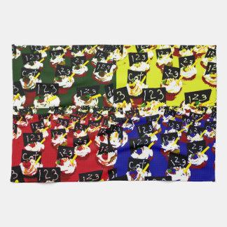 Teacher cupcake repeat pop art colours towels