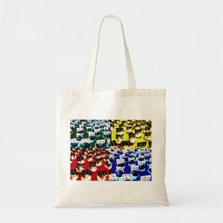 Teacher cupcake repeat pop art two invert canvas bags